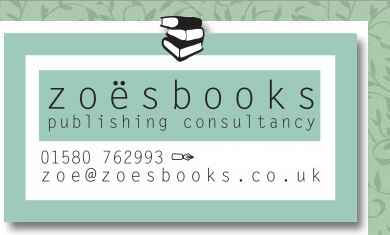 Logo for Zoesbooks, self publishing consultancy for Kent, Surrey, London and the south east